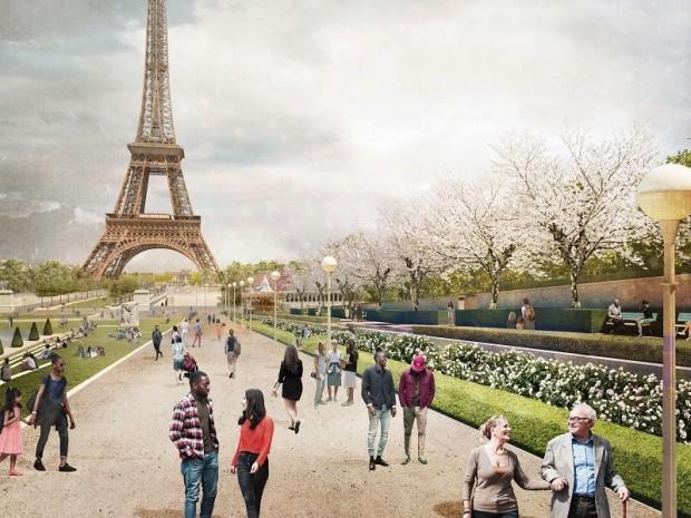 Site Tour Eiffel De Trocadéro à Iéna