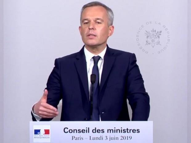 François de Rugy 030619, capture d'écran Elysée