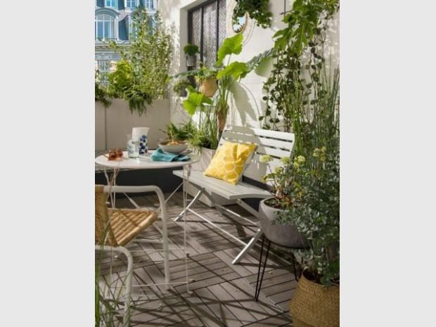 Une terrasse en caillebotis composite
