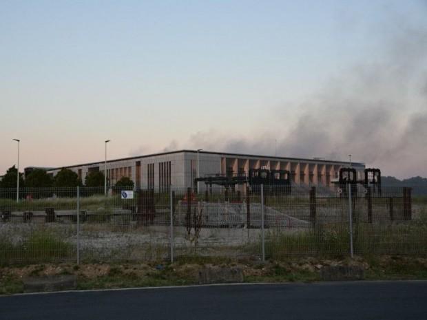 Incendie station d'épuration d'Achères