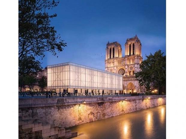 Projet Gensler de cathédrale éphémère à Paris