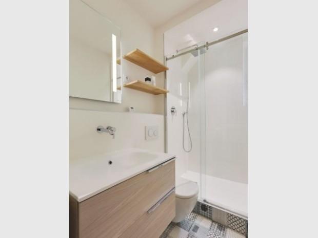 Après : une salle de bains modernisée