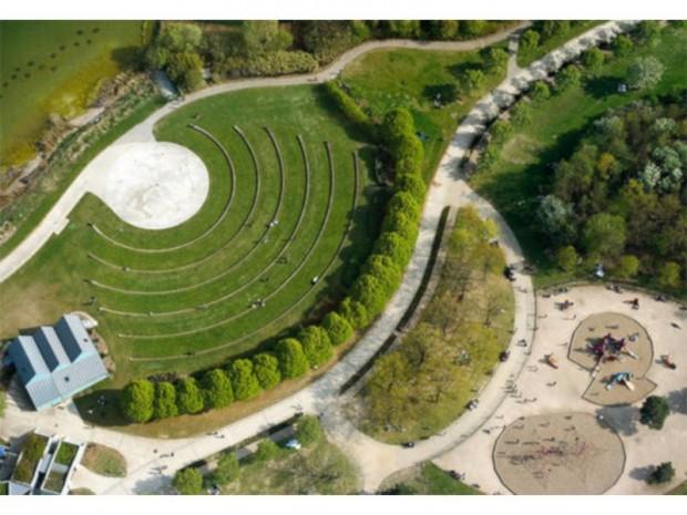 Le parc des Chanteraines, à cheval sur Gennevilliers et Villeneuve-la-Garenne
