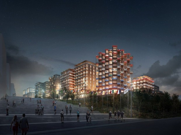 Le futur village olympique des JO de Paris 2024 : lot Nexity-Eiffage