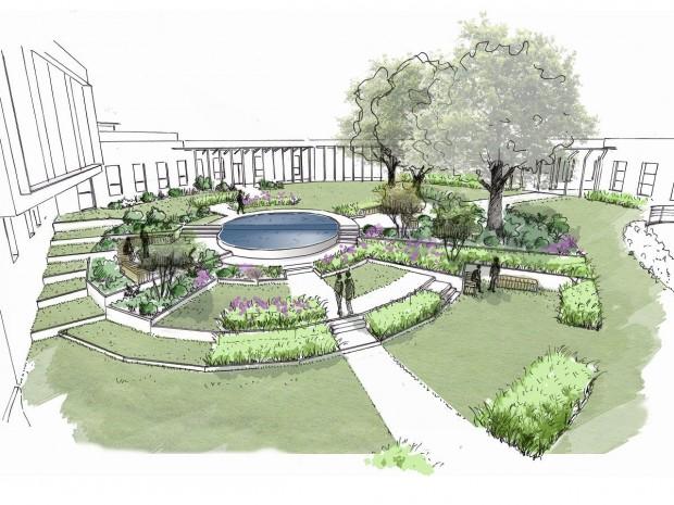 Aménagement paysager du campus Bodet