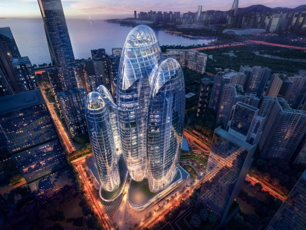 La futur siège d'Oppo, imaginé par les ateliers Zaha Hadid