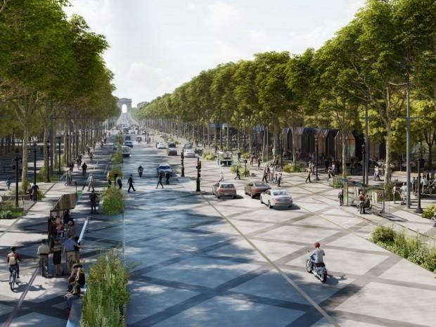 Projet de Ph. Chiambaretta pour les Champs-Elysées