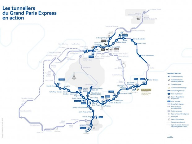 Tunneliers Grand Paris Express