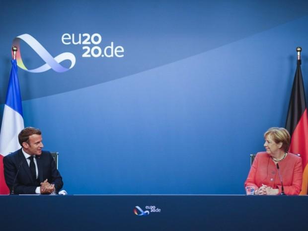 Macron et Merkel sur le plan de relance européen