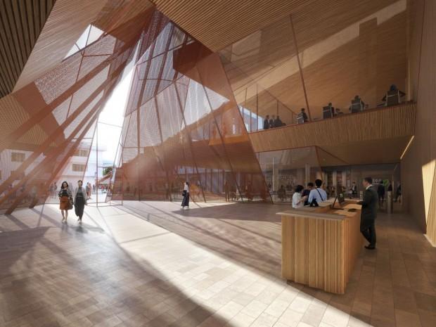 La future mairie de Cheongju (Corée du Sud), imaginée par Snøhetta.