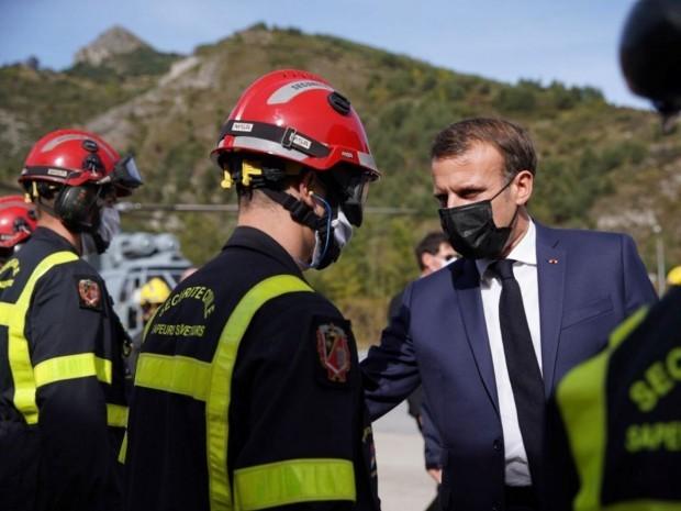 Emmanuel Macron dans les Alpes-Maritimes
