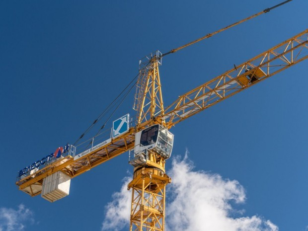 Construction neuve grue chantier