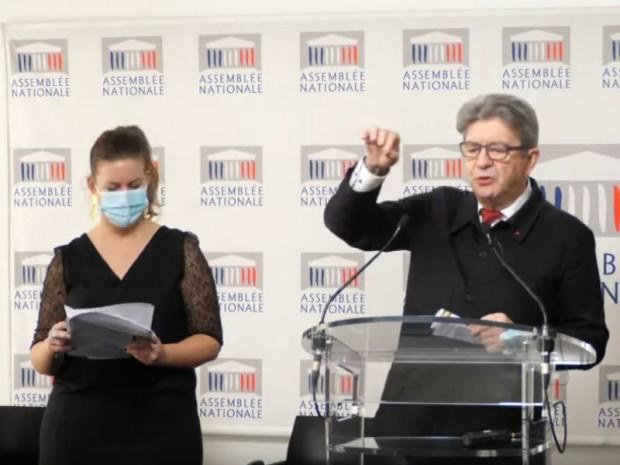 Jean-Luc Mélenchon et Mathilde Panot, LFI
