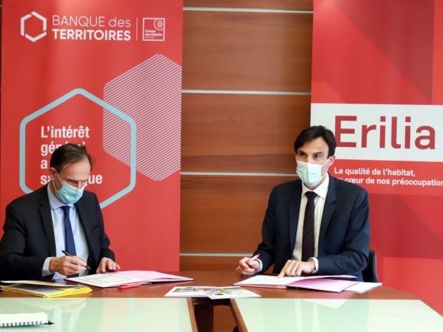 Signature Erilia et Banque des territoires