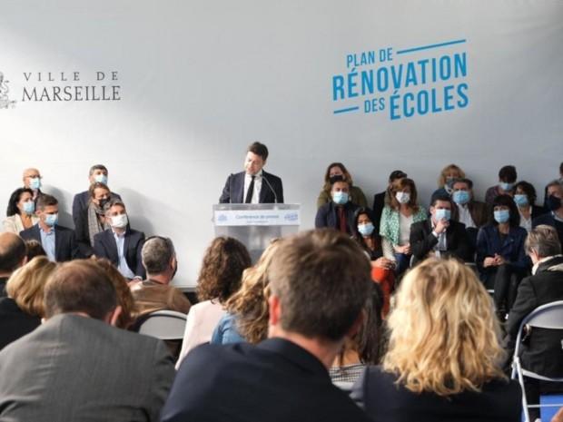 Marseille maire Benoit Payan rénovation écoles