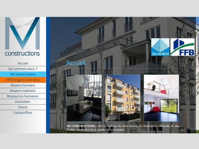 capture du site VM Constructions