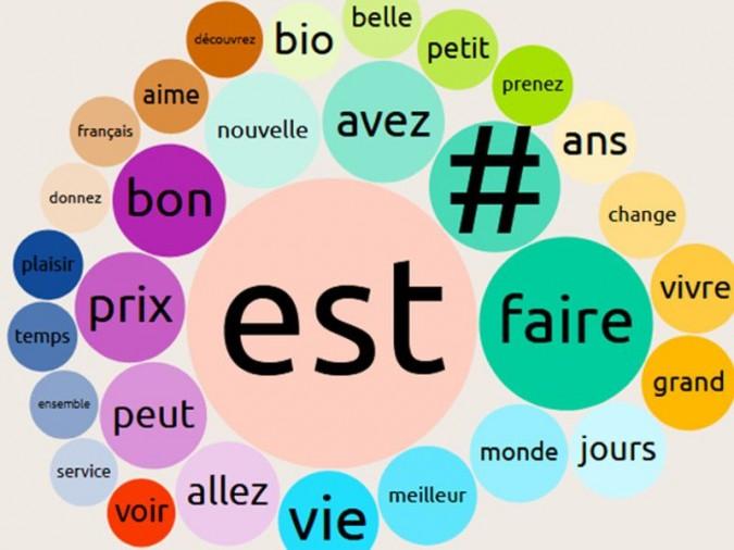 https://www.observatoiredesslogans.fr/ <b>|</b> Vue sur les mots les plus utilisés dans les slogans en 2018 de manière globale