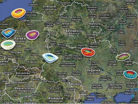 Carte des stades Pologne Ukraine