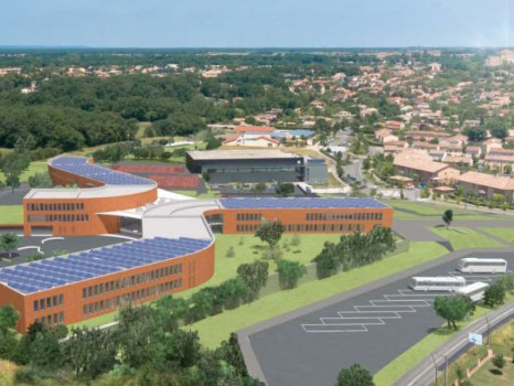 Construction du nouveau lycée de Pibrac (Haute-Garonne)