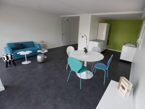 Le salon de la maison évolutive