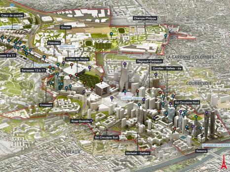 Les projets au quartier la Défense