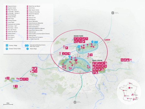Les sites de Paris 2024