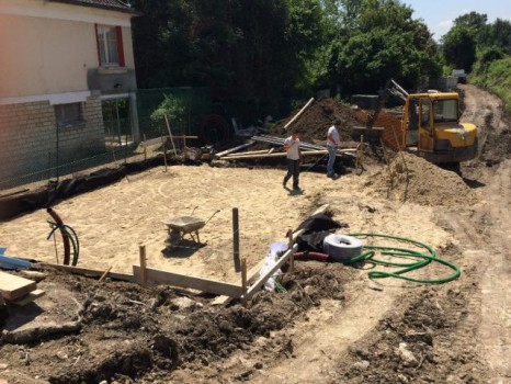 Terrassement pour accueillir la future maison