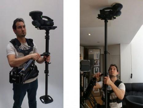 Essai d\'exosquelette type cameraman