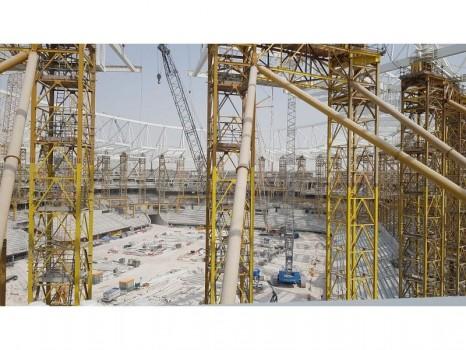 Stade Al Rayyan en construction, Qatar