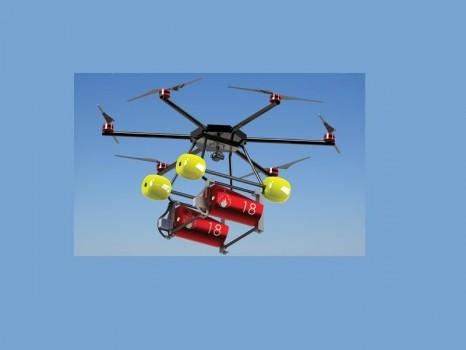 Drone bombardier d\'eau pour la lutte incendie