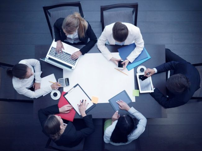 Salariés en formation, en réunion