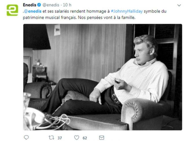 tweet enedis johnny